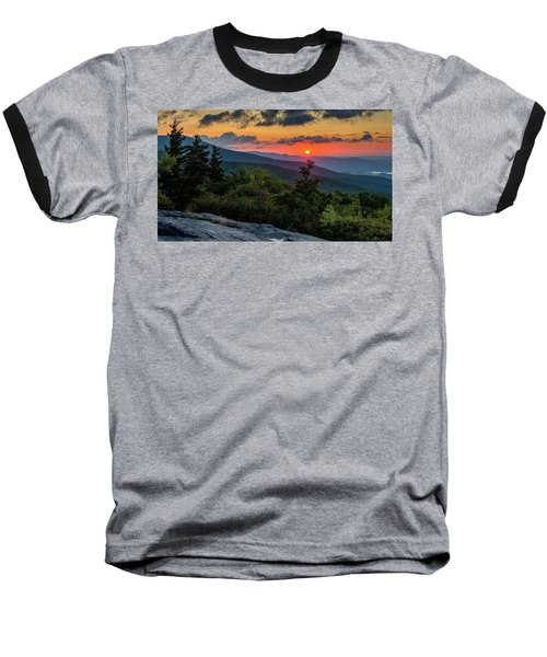 Blue Ridge Parkway Sunrise - Beacon Heights - North Carolina Baseball T-Shirt