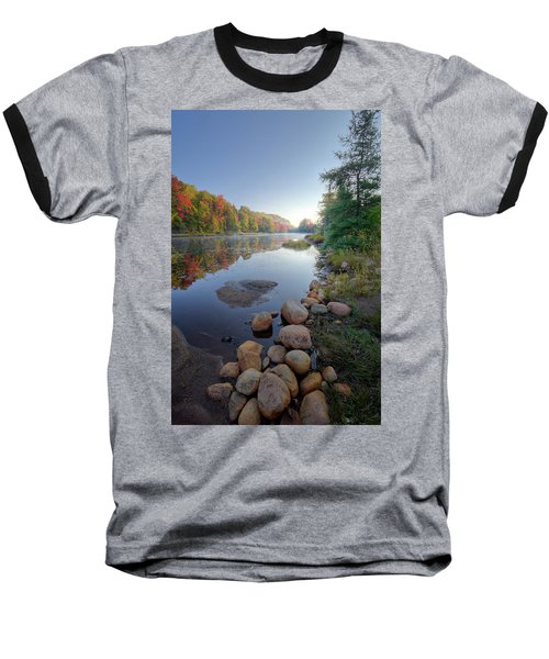 Baseball T-Shirt featuring the photograph Early Color On Bald Mountain Pond by David Patterson