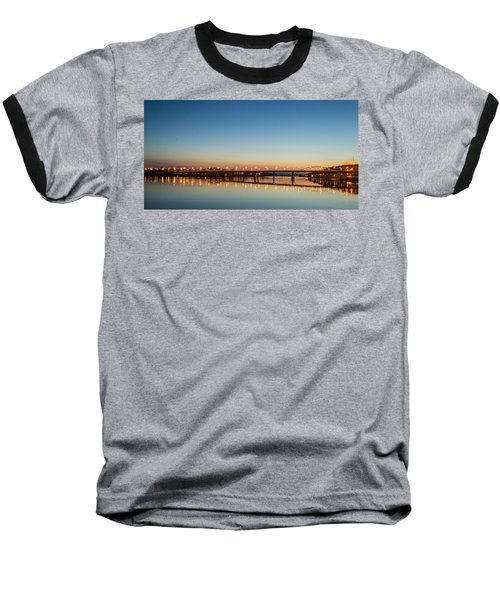 Early Evening Bridge At Sunset Baseball T-Shirt
