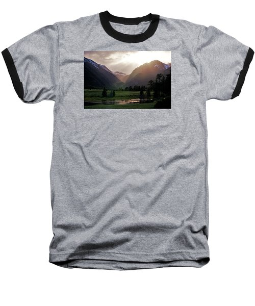 Early Evening Light In The Valley Baseball T-Shirt