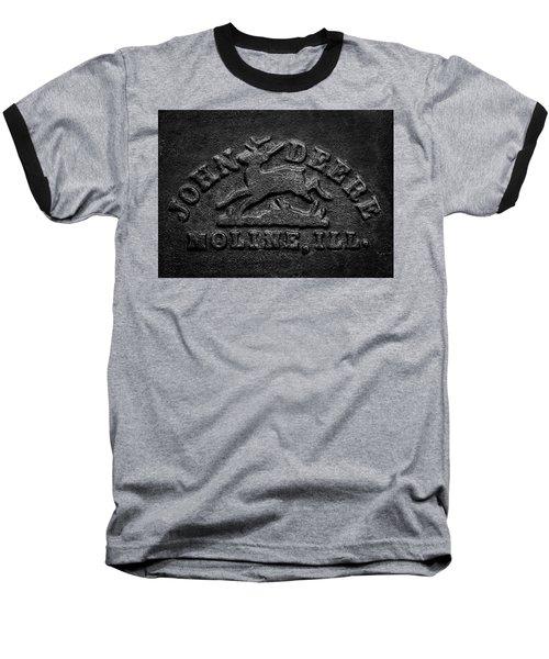 Early John Deere Emblem Baseball T-Shirt