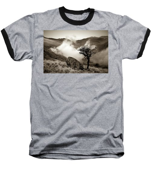 Early Mist, Nant Gwynant Baseball T-Shirt