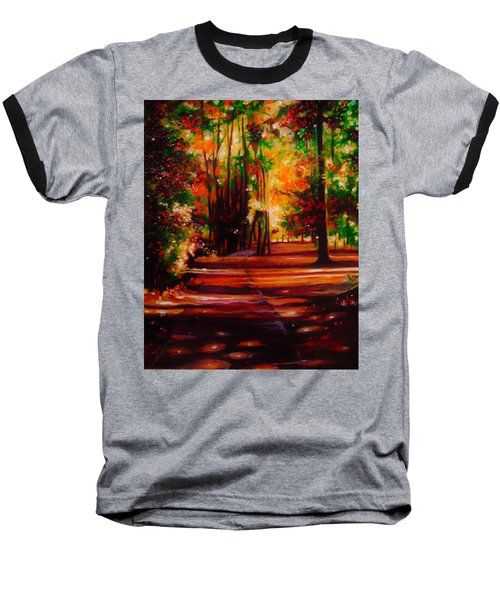 Baseball T-Shirt featuring the painting Early Monday Morning by Emery Franklin
