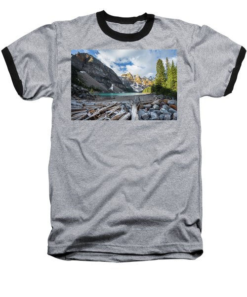 Early Morning At Moraine Lake Baseball T-Shirt