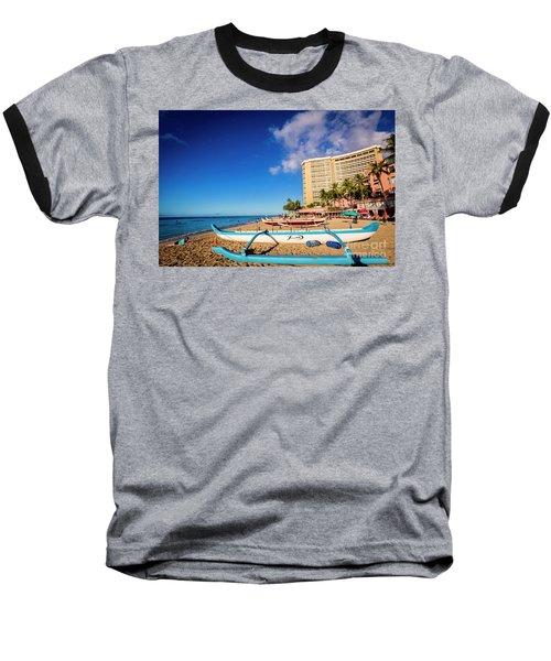 Early Morning At Outrigger Beach,hawaii Baseball T-Shirt