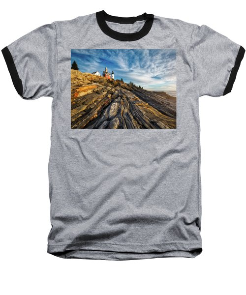 Baseball T-Shirt featuring the photograph Early Morning At Pemaquid Point by Darren White