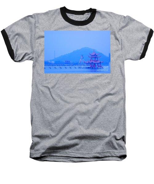 Baseball T-Shirt featuring the photograph Early Morning At The Lotus Lake by Yali Shi