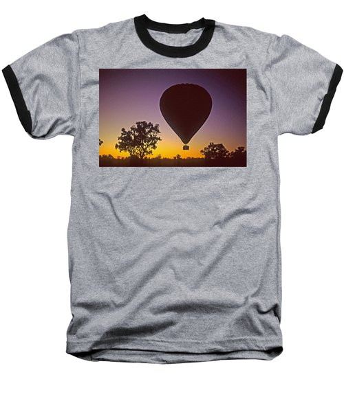 Early Morning Balloon Ride Baseball T-Shirt