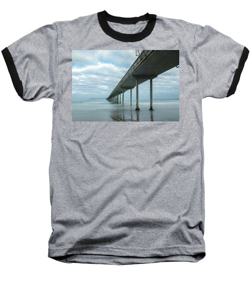 Early Morning By The Ocean Beach Pier Baseball T-Shirt