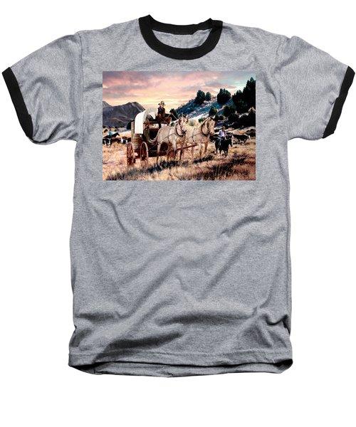Early Morning Drive Baseball T-Shirt by Ron Chambers
