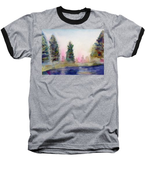 Early Morning Forest Baseball T-Shirt