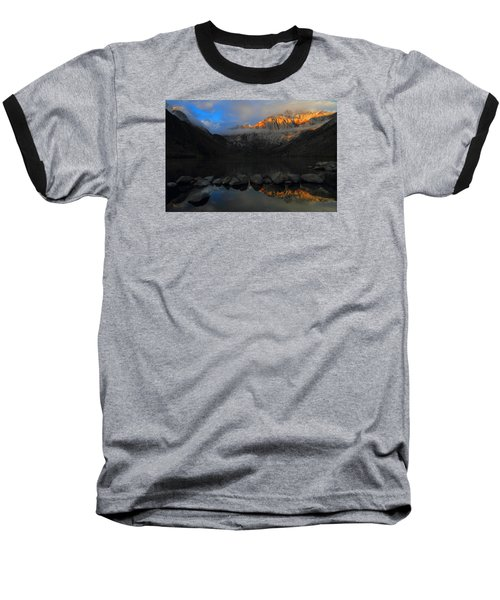 Early Morning Light At Convict Lake In The Eastern Sierras Baseball T-Shirt by Jetson Nguyen