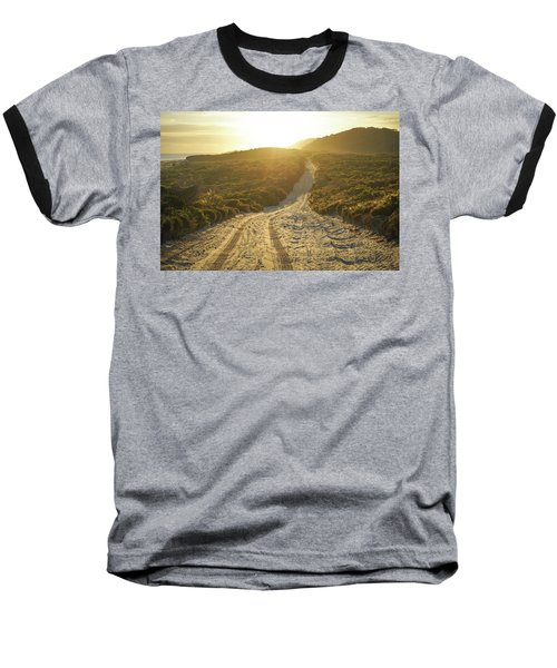 Early Morning Light On 4wd Sand Track Baseball T-Shirt