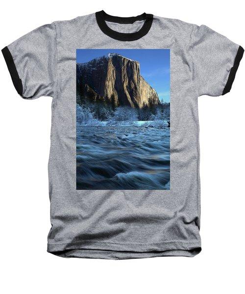 Early Morning Light On El Capitan During Winter At Yosemite National Park Baseball T-Shirt by Jetson Nguyen