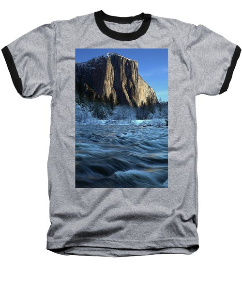 Early Morning Light On El Capitan During Winter At Yosemite National Park Baseball T-Shirt