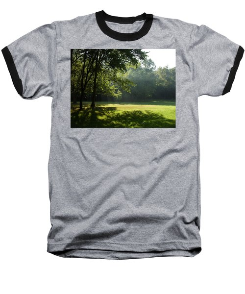 Baseball T-Shirt featuring the photograph Early Morning Meadow by Cynthia Lassiter