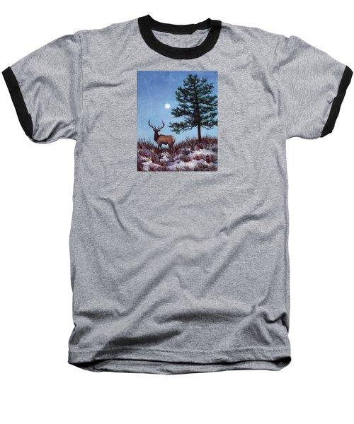 Early Morning Moon Baseball T-Shirt