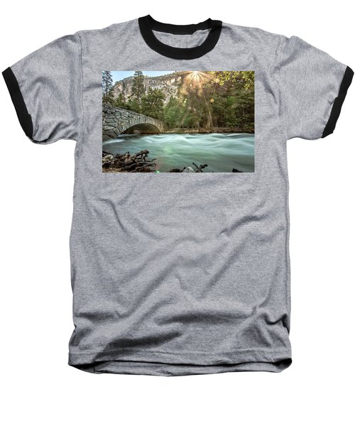 Early Morning On The Merced River Baseball T-Shirt by Ryan Weddle