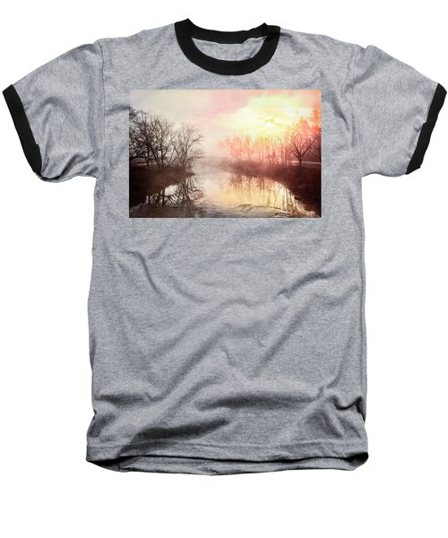 Baseball T-Shirt featuring the photograph Early Morning On The River by Debra and Dave Vanderlaan