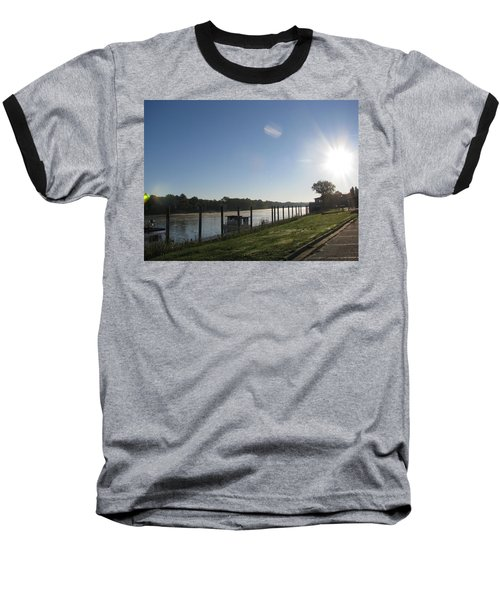 Early Morning On The Savannah River Baseball T-Shirt by Donna Brown