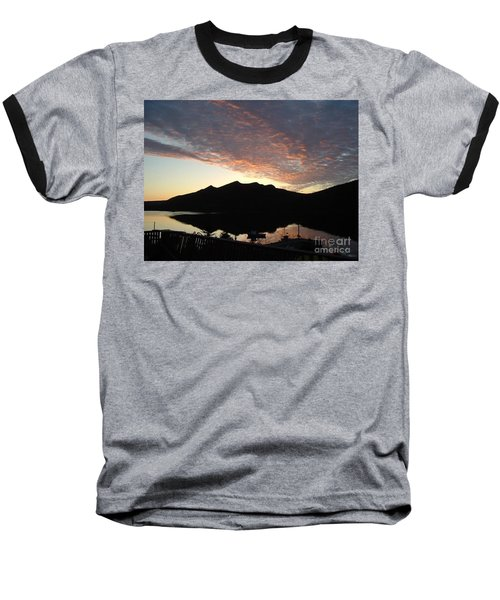 Baseball T-Shirt featuring the photograph Early Morning Red Sky by Barbara Griffin