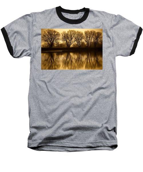 Early Morning Reflections Baseball T-Shirt