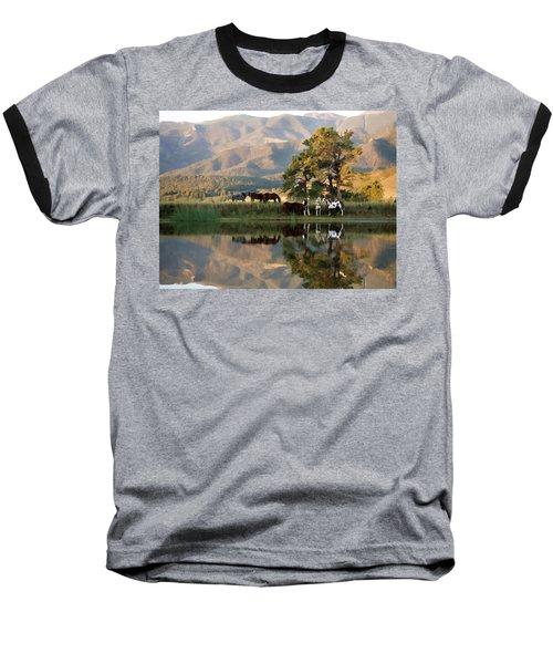 Early Morning Rendezvous Baseball T-Shirt by Nadja Rider