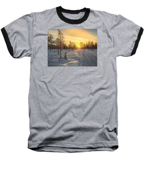 Early Morning Sun Baseball T-Shirt by Rose-Maries Pictures