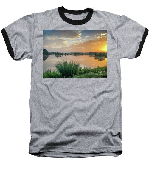 Early Morning Sunrise On The Lake Baseball T-Shirt