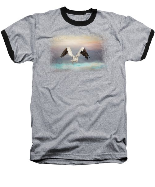 Early Morning Swim Baseball T-Shirt by Jai Johnson