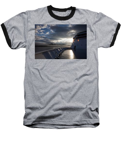 Early Morning Travel To Alaska Baseball T-Shirt by Yvette Van Teeffelen