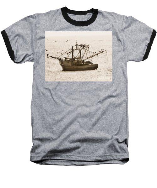 Early Morning Trawling  Baseball T-Shirt by Christy Ricafrente