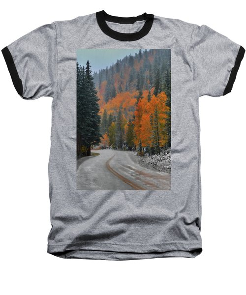 Baseball T-Shirt featuring the photograph Early Snow by Dana Sohr