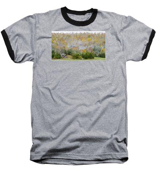 Baseball T-Shirt featuring the photograph Early Snow Fall by Wanda Krack
