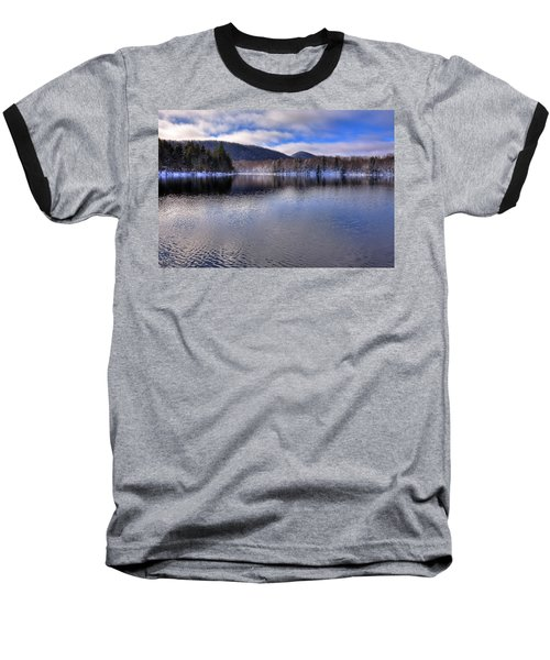 Early Snow On West Lake Baseball T-Shirt by David Patterson