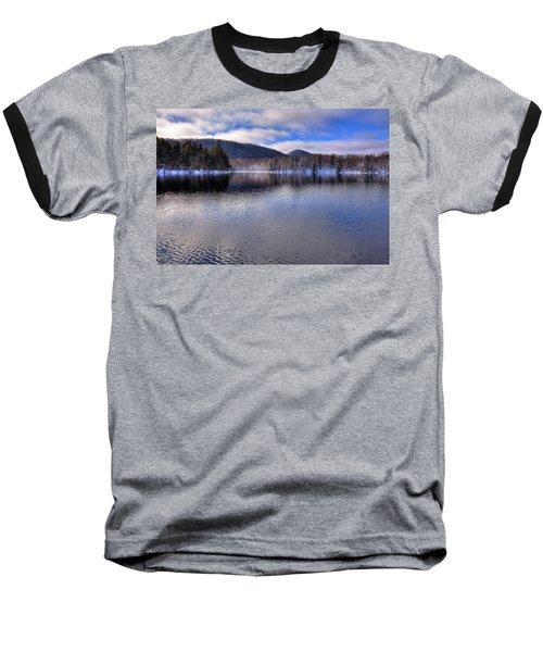 Early Snow On West Lake Baseball T-Shirt
