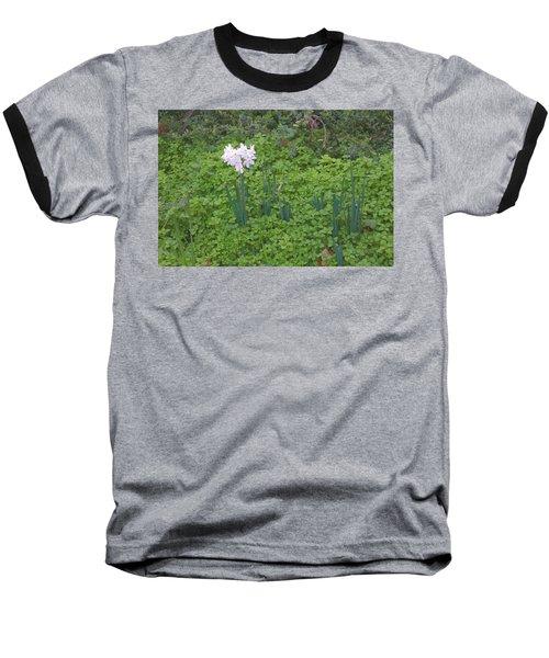 Early Spring Garden Flowers Baseball T-Shirt