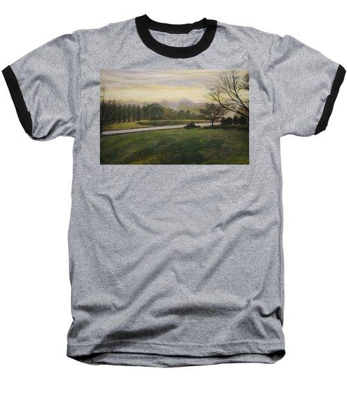 Early Spring On Ernie Lane Baseball T-Shirt by Ron Richard Baviello