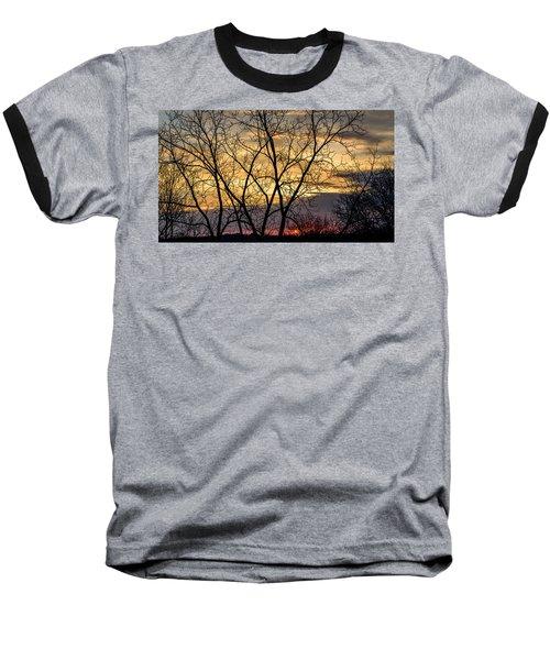 Early Spring Sunrise Baseball T-Shirt by Randy Scherkenbach