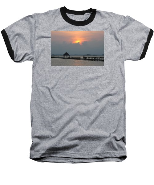 Baseball T-Shirt featuring the photograph Early Sunset Over The Gazebo by Robert Banach