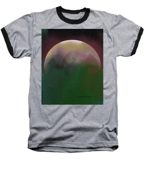 Earth And Moon Baseball T-Shirt by Lenore Senior