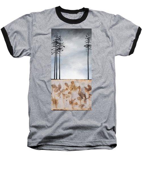 Earth And Sky Baseball T-Shirt by Carolyn Doe