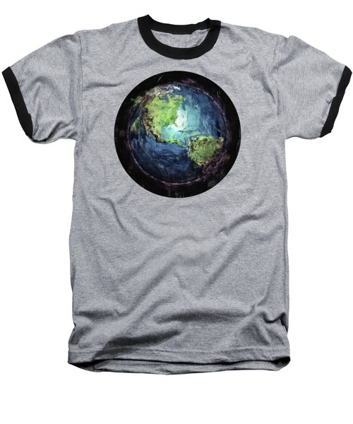 Earth And Space Baseball T-Shirt by Phil Perkins