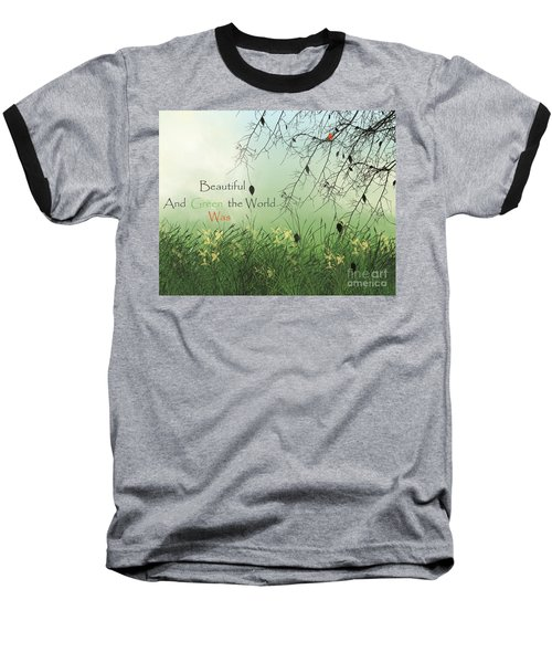 Earth Day 2016 Baseball T-Shirt by Trilby Cole