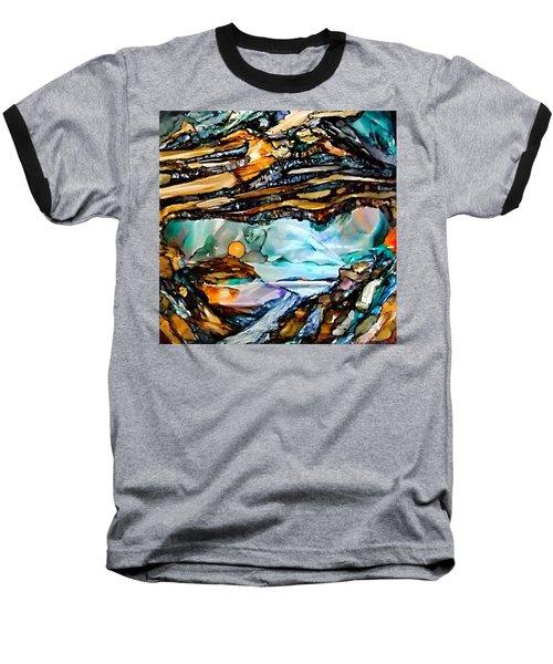 Earth Day Underground Paradise Alcohol Inks Baseball T-Shirt