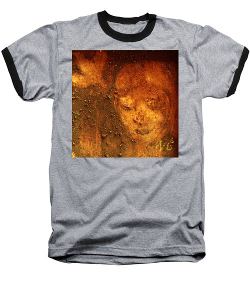 Baseball T-Shirt featuring the painting Earth Face by Winsome Gunning