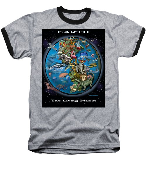 Baseball T-Shirt featuring the painting Earth by Kevin Middleton