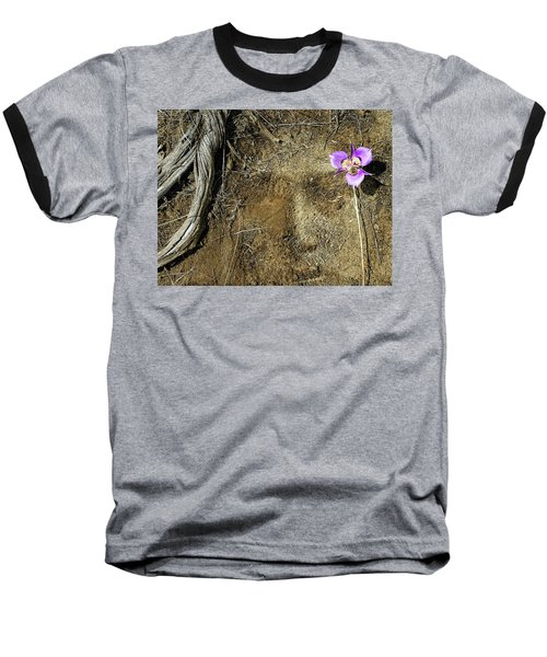 Baseball T-Shirt featuring the photograph Earth Memories-desert Flower # 1 by Ed Hall