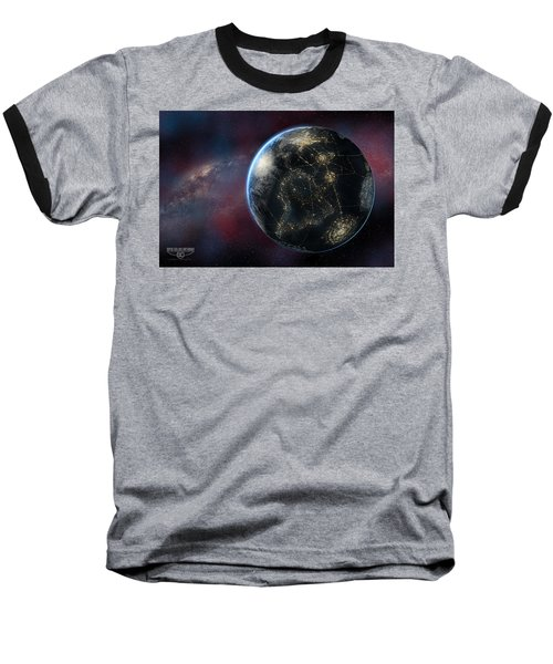 Earth One Day Baseball T-Shirt by David Collins