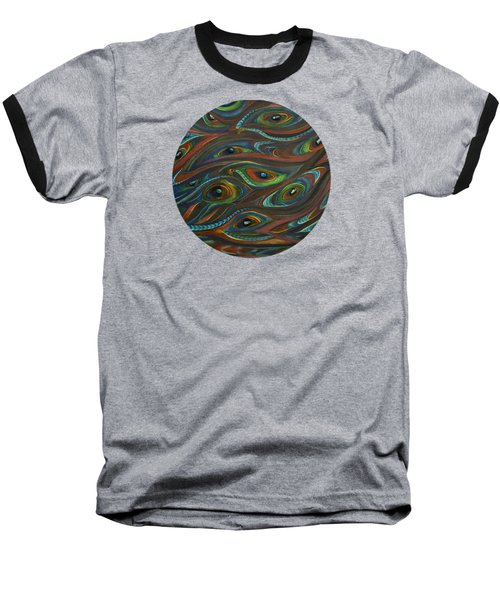 Earth Song Baseball T-Shirt by Deborha Kerr